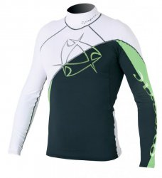 2011 Arrow Rashvest L/S White/Green L