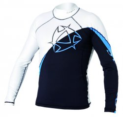 2012-2013 Arrow Rash Vest L/S 135 White/Blue L