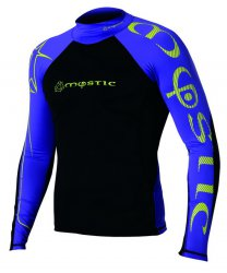 2012 Crossfire Rash Vest L/S 385 Purple/Yellow S