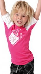 2012 Star Rash Vest S/S Kids 375 Pink L