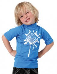2012 Star Rash Vest S/S Kids 400 Blue M