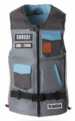 Жилет Mystic 2016 The Magician Wakeboard Vest Grey