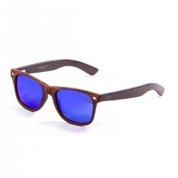Очки BEACH WOOD Frame: bamboo brown Arms: dark Lens: revo blue