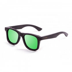 Очки KENEDY bamboo black frame with revo green