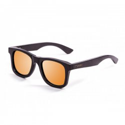 Очки KENEDY bamboo black frame with revo orange