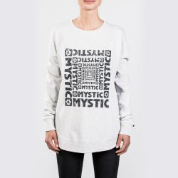 Толстовка женская Mystic 2018 Brisk Sweat Light Grey Melee