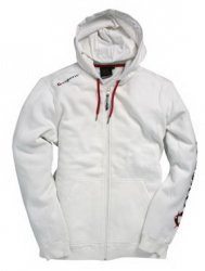 Hooded Essential Full Zip Bright White L