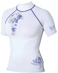Maui Magic Luna Rash Vest S/S  Purple XL