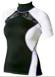 Maui Magic Hana Rash Vest S/S  Purple L