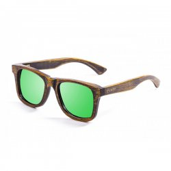 Очки NELSON bamboo black frame with revo green