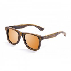 Очки NELSON bamboo black frame with revo orange