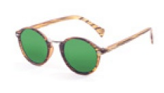 Очки LILLE mate brown strips frame Lens revo green