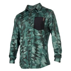 Быстро сохнущая рубашка Mystic 2018 Shred Blouse Quickdry L/S Green Allover