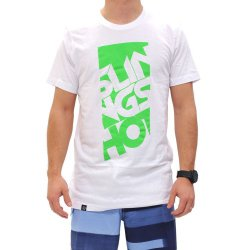 Slingshot 2014 Men's Base Tee Sz white/green