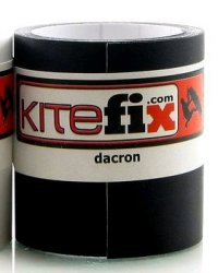 "KiteFix Self-adhesive Dacron Tape (black - 2""""x48"""") Чёрный"