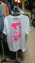 Slingshot 2014 Men's Base Tee Sz white/pink